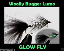 WOOLY BUGGER LUMO Glow Fly TROUT FLIES for fly fishing rod reel & line