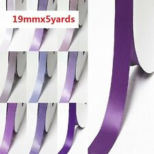 "Double Faced Satin Ribbon 3/4"" /19mm Wedding 5 Yards , lilac purple for bow"