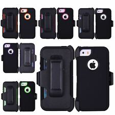 Heavy Duty Defender Dirt/Shockproof Case Cover+Belt Clip Holster for iPhone 5/5s