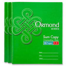 Ormond C3 School Maths 7mm Squared Exercise Book 88 Pages Sum Copy A5+ #011112