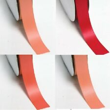 "Single Faced Satin Ribbon 3/8"" /9mm. Wholesale 100 Yards, Rose to Red for gift"