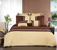 Luxury Chocolate & Gold Embroidered Design Duvet Cover Set