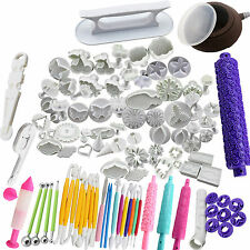 Fondant Cake Decorating Tools Modelling Sugarcraft Icing Plunger Mould Cutters