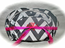 Personalized Chevron 3 Piece Cosmetic Bag Set w/FREE Monogram Travel Bridal Gift