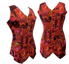 Ladies / Womens Phool Indian Boho Chic Hippy Style Quilted Lined Waistcoat