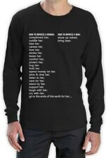 How to Impress a Woman How to Impress a Man Long Sleeve T-Shirt Gift Idea Dad