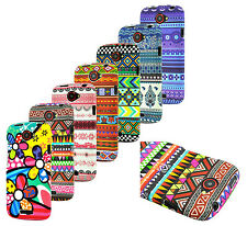 HTC One S Chevron Fabric Print Design Rubber Coating Hard Case