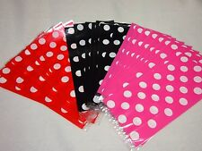 20 Lot Mickey Minnie Mouse Goody Polka Dots Party Cello Favor Bags - You Pick