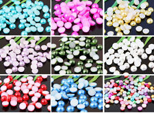 Half Round Bead Flat Back Acrylic Pearl Scrapbooking Embellishment Craft 4、6、8