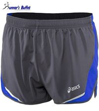 "Asics Men's Split Short 3"" Running Shorts Steel/Surf"