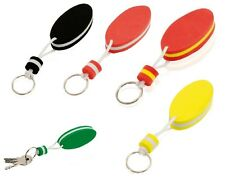 Oval Shaped Baltic Foam Floating Key Ring - Black  Blue  Green  Yellow  Red