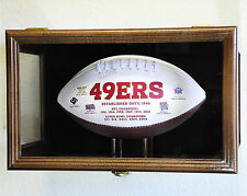 Clear Viewing Football Display Case Cabinet Wall Mount / Free Standing Ball NFL