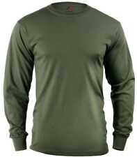 t-shirt olive drab green long sleeve cotton poly blend rothco 60118