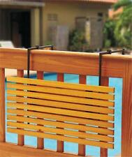 ATTRACTIVE WOODEN FOLDING DECK TABLE SECURES TO PORCH DECK RAILING-2 FINISHES