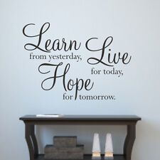 Wall sticker quote Learn Live Hope WA091X