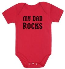 My Dad Rocks Baby Bodysuit Cool Punk Rock Grow Vest Shower Gift Fathers Day Gift