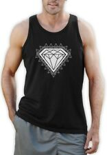 Diamond Print Singlet GRAPHIC SKATE URBAN YOLO Hip Hop DOPE SWAG Muscle VEST