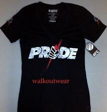 "UFC PRIDE WOMENS BRAND NEW ""PRIDE LOGO"" T-SHIRT - NWT - UFC STORE - BLOWOUT"