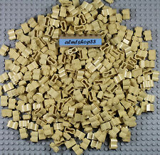 LEGO - Bulk Lot of 1x2 brick logs, tan beige (#30136) Castle Friends blocks
