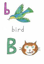 Blank greeting card Cats Alphabet letter B Louisa's Ginger Nuts Peter Brighouse
