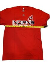 CLEVELAND INDIANS RED T SHIRT NEW WITH TAGS PRINTED LOGO WAHOO AND TEAM NAME