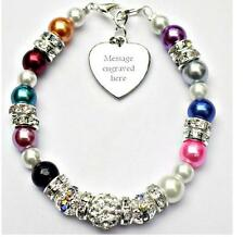 Personalised Engraved All Any Cancer Support Bracelet Fundraising Charity Gift