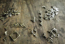 Metal Corners -Slotted Corners - 23 x17mm DIY decorative embellishments Qty 25