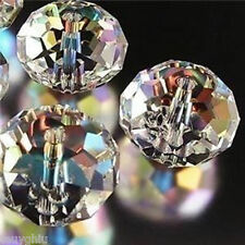 new 100Pcs Clear Swarovski Crystal Gem Beads 4-12mm