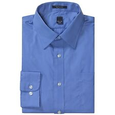 New $30 Lands' End Men's Broadcloth Dress Shirt - Wrinkle Free, French Blue