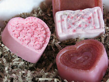 Heart Shaped Soap 3.5oz, Handmade.Goats milk with Rose /Lavender or Peppermint.