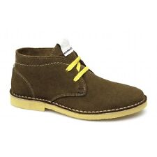 Wrangler CHURLISH Womens Ladies Suede Lace-Up Ankle Desert Boots Tobacco Brown
