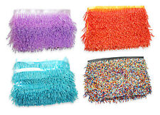 Neotrims Bugle Beads Fringe Satin Ribbon Trimming By the Yard Online Wholesale