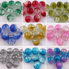 Wholesale Czech Glass Beads Crackle Cracked Loose Spacer Craft Beads 6/8/10mm