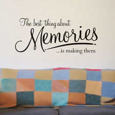 Memories wall sticker quote WA076X