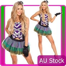 Ladies Mad Hatter Tea Party Alice in Wonderland Fancy Dress Costume Outfits