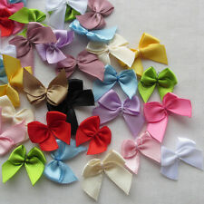 E230  Mini Satin Ribbon Flowers Bows Gift Craft Wedding Decoration Upick 60pcs