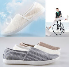 Men Breathable Loafers Slip ons Vintage Espadrilles Zapato Casual Shoes Sandals