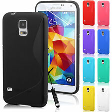 Gel Silicone Case Cover for Samsung Galaxy S5 SV i9600 + Free Screen Protector
