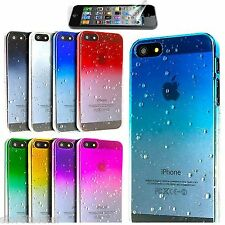 Apple iphone 5 / 5s Case Ultra Thin Raindrop Grip Clear Hard Cover Waterdrop