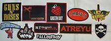 Pick ONE Punk Rock Band Embroidered Patch Green Day Fallout Boy Underoath Mest
