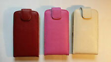 Genuine leather flip style case, cover to fit ZTE Blade V - Virgin phone