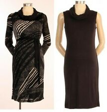 New 2Pc JAPANESE WEEKEND MATERNITY NURSING Winter Cowl Sweater Dress Lot M 10 12