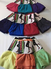 Footless Leggings NEON Colors One Size O/S Ankle Length Stretch Tights Jeggings