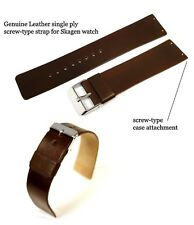 Genuine Leather Watch Strap / Band Replacement for Skagen 695XLSLB, 695XLRLD
