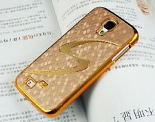 "Gold  Luxury Gold Chrome Designer ""S"" Hard Cover Case Samsung Galaxy S4 I9500 A"