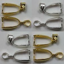 20Pcs Mixed ,Silver Gold Plated Pendant Pinch Clip Bail Connector Wholesale