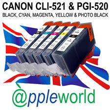 1 SET of CLI-521 & PGI-520 CHIPPED Ink carts compatible for CANON PIXMA printers