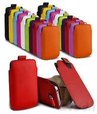 Nokia Pull Tab PU Leather Skin Case Cover Pouch Fits Various Nokia Mobile Phones