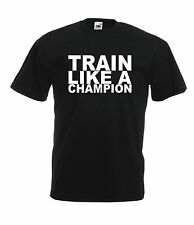 TRAIN GYM WORKOUT sport present NEW Boys Girls Kids  T SHIRT TOP Age 1-15 Years