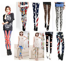 Hot sale New Fashion Women's Colorful Pattern Print Leggings Tights Pants Styles